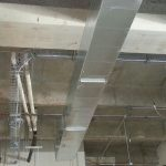 8″ and 12″ cable tray installed