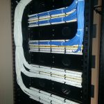 The cables are punched down onto patch panels specifically dedicated for voice and data.