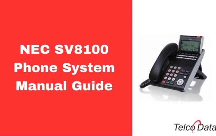 NEC SV8100 Phone System Manual PDF Guide