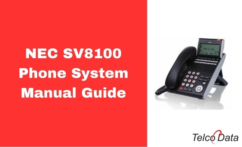 NEC SV8100 Phone System Manual PDF Guide